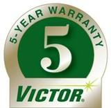 5yr warranty on victor equipment