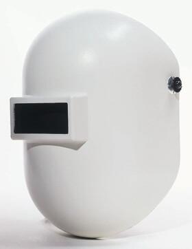 White Pipeliner Welding Helmet By Fibremetal